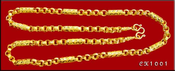 Thai Baht Gold Necklace CH1001